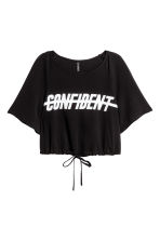 Cropped top - Black - Ladies | H&M 2
